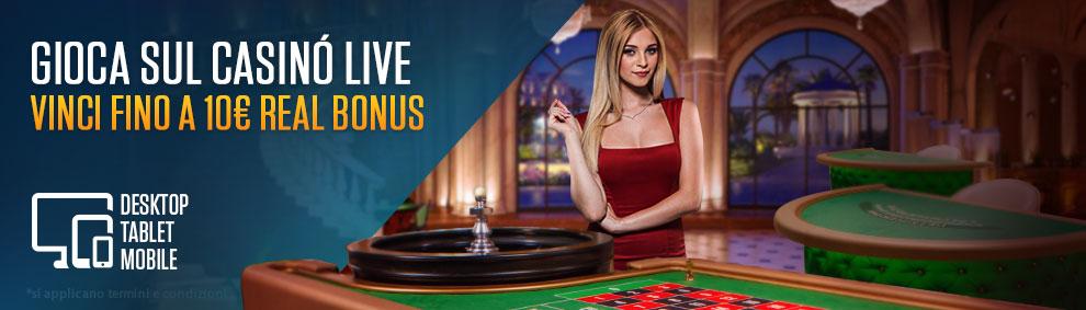 Promo Casino Live su NetBet Casino AAMS